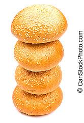 Pyramid of buns