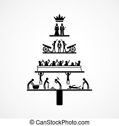 Pyramid of Capitalism, infographics - vector graphics, ...