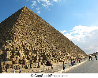 Pyramid of Cheops at Giza, Egypt