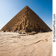 Pyramid Of Cheops Base Foundation - The base of the Great...