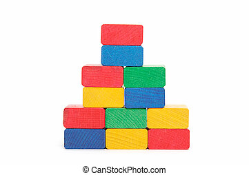 pyramid of color blocks