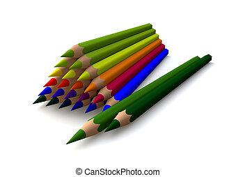 pyramid of crayons