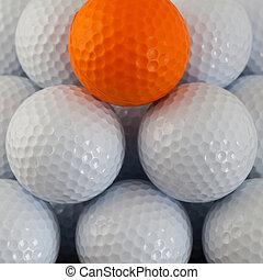 Pyramid of golf balls