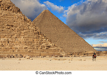 Pyramid of Khafre and the Pyramid of Cheops, Egypt