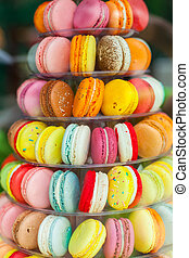 Pyramid of macarons