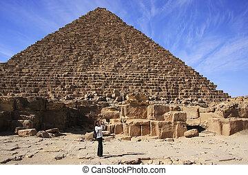 Pyramid of Menkaure, Cairo, Egypt