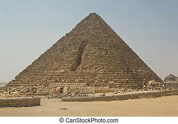 Pyramid of Menkaure, Giza - The Giza Necropolis is an...