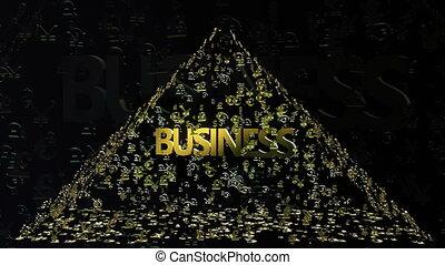 Pyramid of money signs