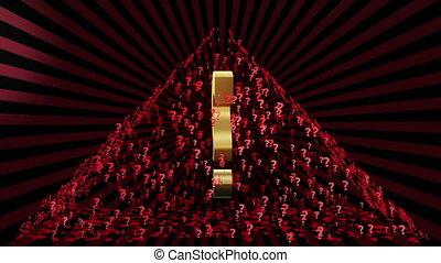 Pyramid of Question marks 1 - Pyramid of Question marks on a...