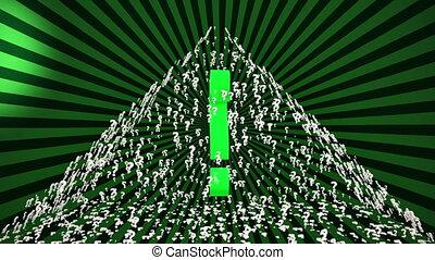 Pyramid of Question marks 2 - Pyramid of Question marks on a...