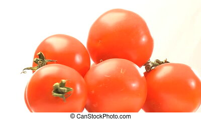 Pyramid of red tomatoes