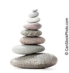 Pyramid of sea pebbles