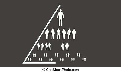 Pyramid of the human race, conceptual animation