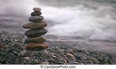 pyramid on beach - Pyramid on beach
