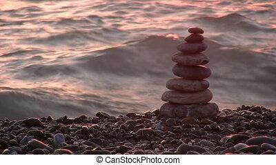 pyramid on beach