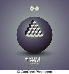 pyramid on sphere