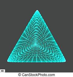 pyramid., regolare, tetrahedron