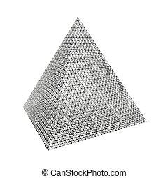Pyramide. Tétraèdre commun. Solide platonicien - Pyramide ....