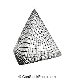 Pyramid. Regular Tetrahedron. Platonic Solid. Regular, ...