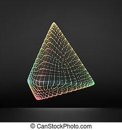 Pyramide. Tétraèdre commun. Platoniquement solide. Régulière ...