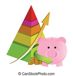 pyramid savings graph chart