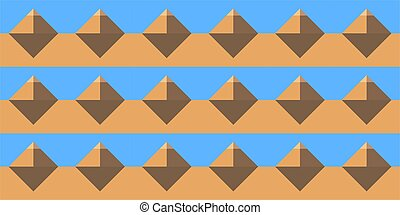 Pyramid Seamless Abstract Pattern Vector Illustration Background