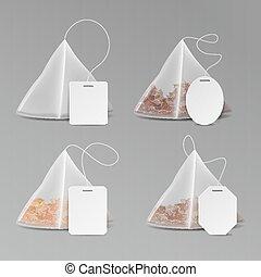 pyramid tea bags realistic set whole leaves silky nylon pyramid