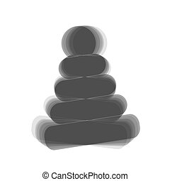 Pyramid sign illustration. Vector.