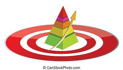 pyramid target illustration