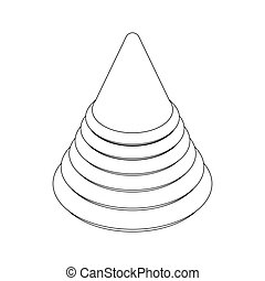 Pyramid toy icon, isometric 3d style