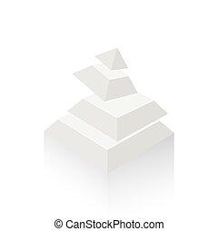 pyramid transform  white color