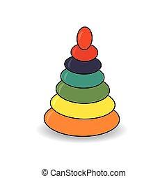 Pyramid vector illustration