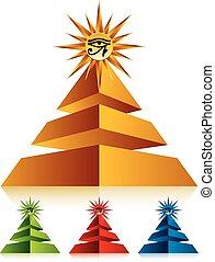 Pyramid with eye of Ra.