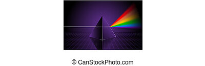 Pyramid with Rainbow Original Vector Illustration Rainbow...