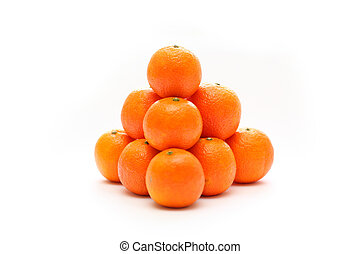 tangerine - pyramid with tangerine