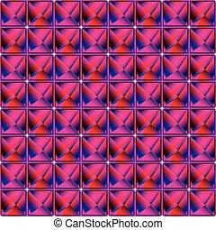 pyramidal pattern, abstract seamless texture; vector art...