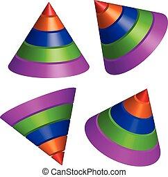 Pyramidal shapes render