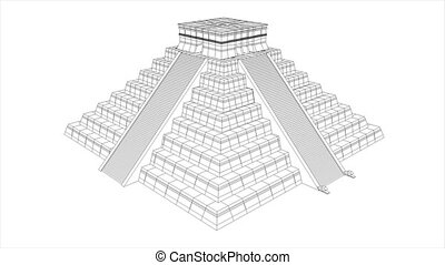 pyramide, aztèque