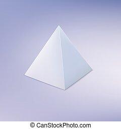 pyramide, géométrique, forme., fondamental