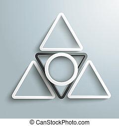 pyramide, negro, piad, anillo blanco, triángulos
