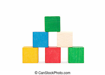 pyramide of color blocks