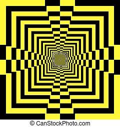 pyramide, résumé, jaune, noir, perspective, infini, escalier