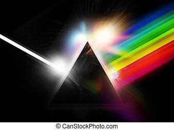 pyramide, retro, fond