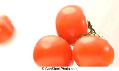 pyramide, rotatif, tomates