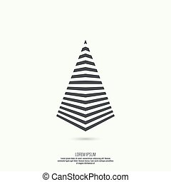pyramide, strips.