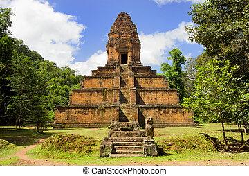 pyramide, temple, cambodge