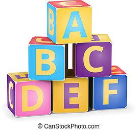 pyramide, vecteur, a, cubes