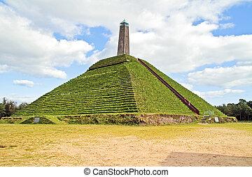 pyramide, von, austerlitz, gebaut, 1804, in, der,...