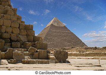 pyramide, von, chefren