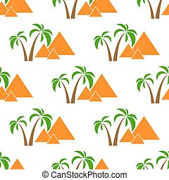 pyramider, isolerat, seamless
